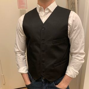 Black Pierre Cardin Vest.